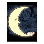 Pug on the Moon Post Card