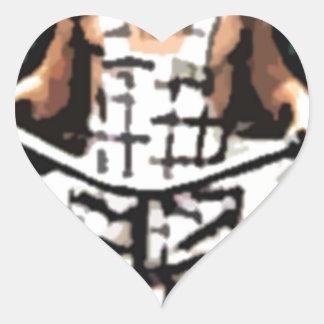 pug On Wheels Heart Sticker