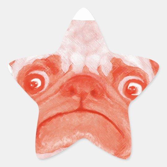 PUG_orange3.png Star Sticker