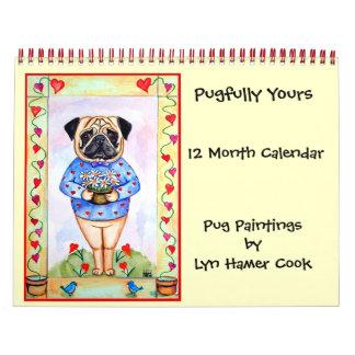 Pug Original Art Calendar