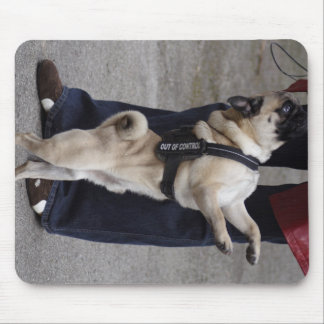 Pug Out Of Control Mouse Pad