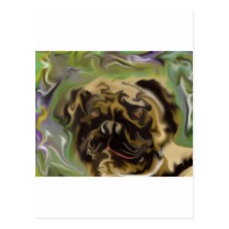 Pug Paint Postcard