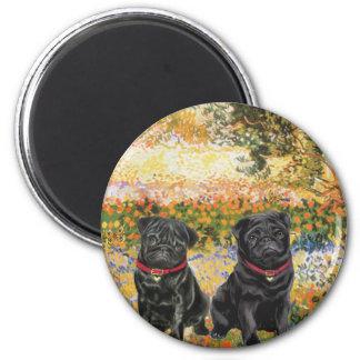 Pug Pair (black) - Garden (VG) Magnet