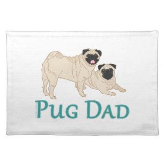 Pug Pair Dog Dad Cloth Placemat