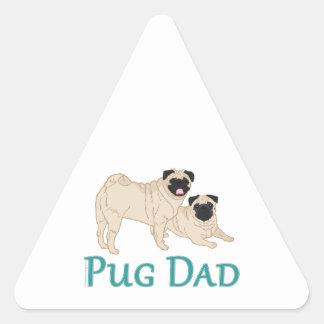 Pug Pair Dog Dad Triangle Sticker