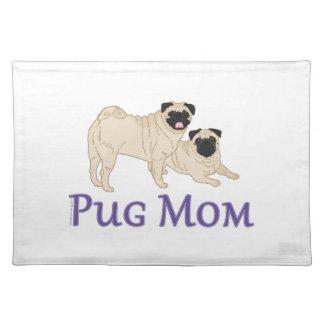 Pug Pair Dog Mom Cloth Place Mat