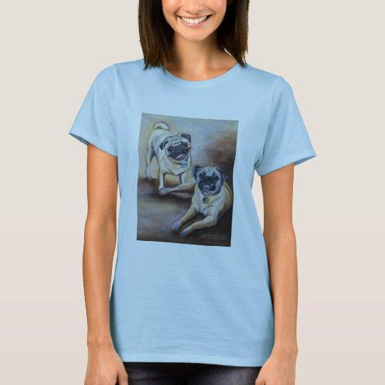 Pug Pair Piper & Raven T-Shirt