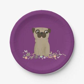 pug paper plates
