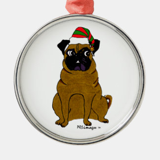 Pug Patrick Christmas Ornament
