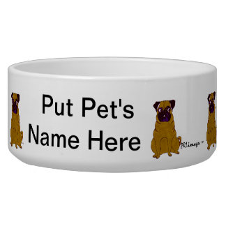 Pug Patrick Pet Bowl