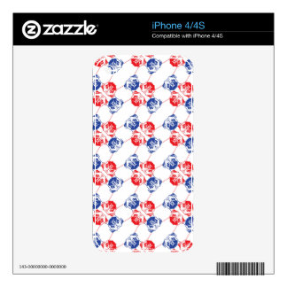 Pug Pattern Skin For iPhone 4S