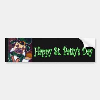 Pug  Patty Car Bumper Sticker