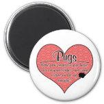 Pug Paw Prints Dog Humor Fridge Magnet