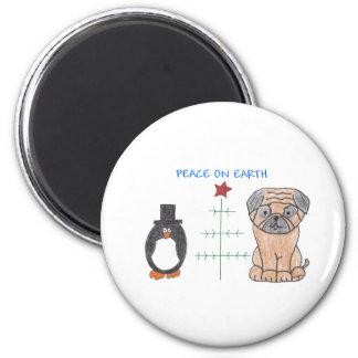 Pug Peace On Earth Magnet