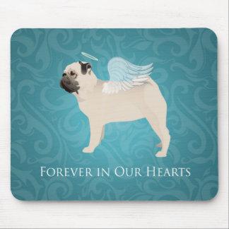 Pug Pet Memorial - Pug Angel Mouse Pad