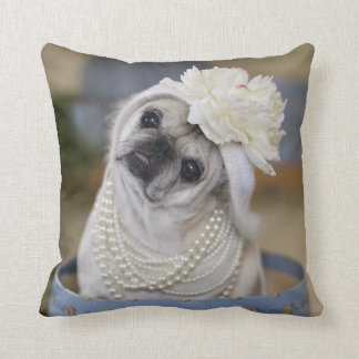 Pug Pillow My Pearls Go With Everything