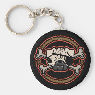 Pug Pirate 21213 Basic Round Button Keychain