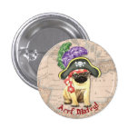 Pug Pirate Buttons