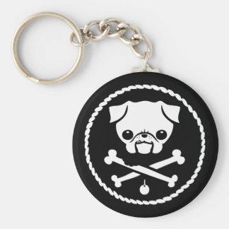 Pug Pirate Keychain