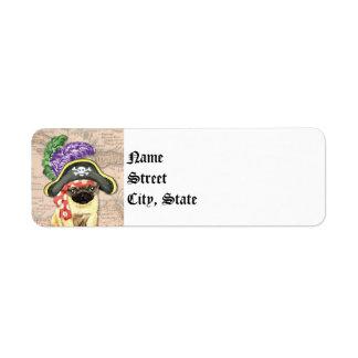 Pug Pirate Label