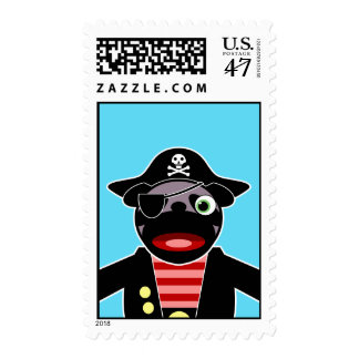 pug pirate stamp