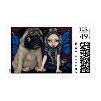 """Pug Pixie"" Stamp"