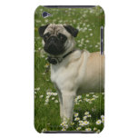 Pug Playing in Flowers iPod Case-Mate Cases