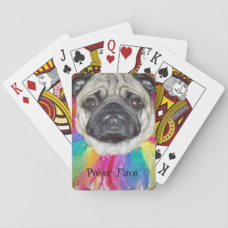 Pug Poker Face Playing Cards
