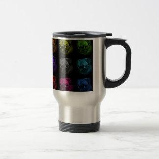 Pug Pop Art 15 Oz Stainless Steel Travel Mug
