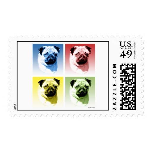 Pug Pop Art Postage