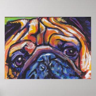 Pug Pop Art Poster
