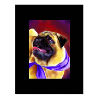 Pug Portrait ACEO Art Trading Card