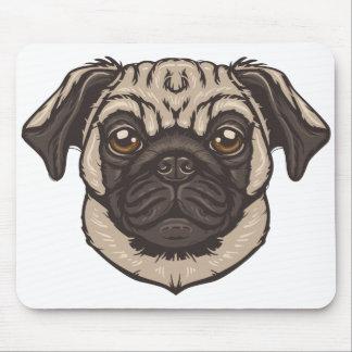 Pug Portrait Mouse Pad