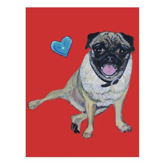 Pug Post Card