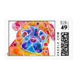Pug Postage Stamps