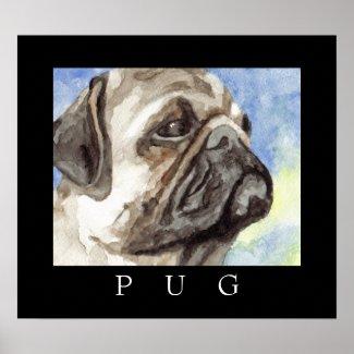 Pug Poster Art