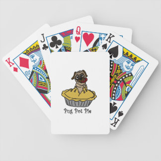 Pug Pot Pie Bicycle Playing Cards