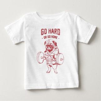 Pug Power Weight Lifter Baby T-Shirt