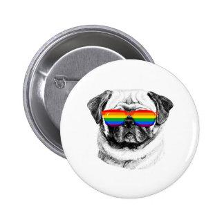 Pug Pride Sunglasses 2 Inch Round Button