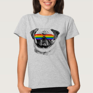 Pug Pride Sunglasses T-Shirt