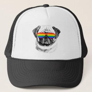 Pug Pride Sunglasses Trucker Hat