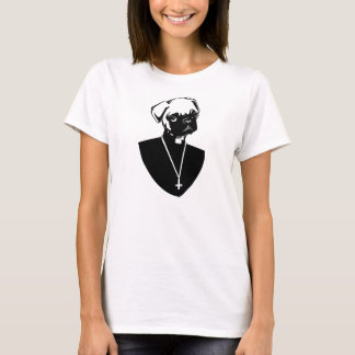 Pug Priest Womans T-Shirt