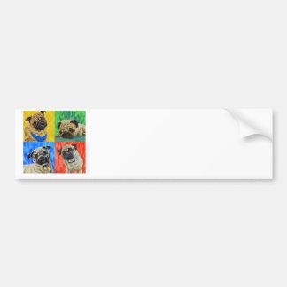 Pug Primary Bumper Sticker