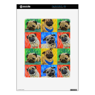 Pug Primary Repeating Pattern Decals For iPad