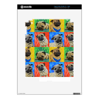 Pug Primary Repeating Pattern Skin For iPad 2
