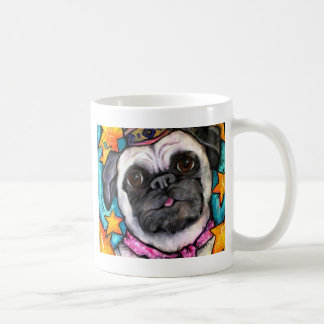 Pug Prince Classic White Coffee Mug