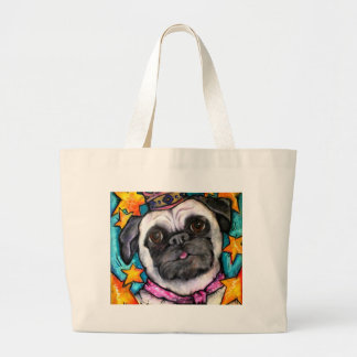 Pug Prince Large Tote Bag