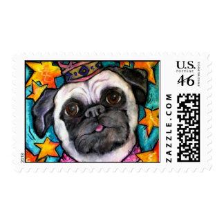 Pug Prince Postage Stamp