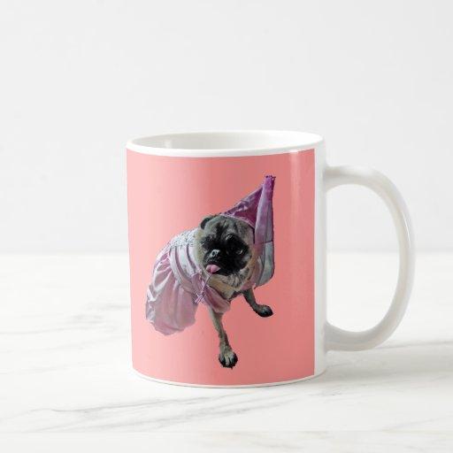 Pug Princess Classic White Coffee Mug