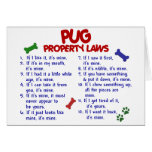 PUG Property Laws 2 Greeting Cards